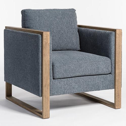Blue Wood Trim Chair