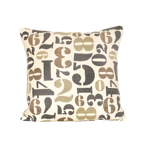 Numbers 20x20 Pillow