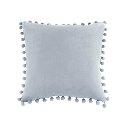 Juni Poly Velvet Pom Pom Square Pillow
