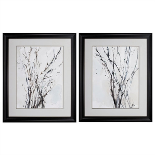 Watercolor Branches Wall Art, Set of 2