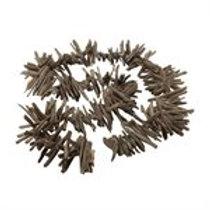 Charcoal Driftwood Garland 8'