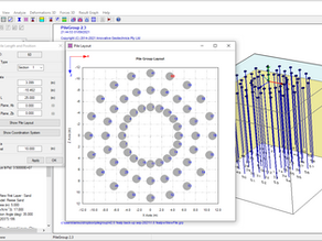 Circular pile group layout for wind turbine foundations in PileGroup program