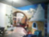 Роспись угловой стены