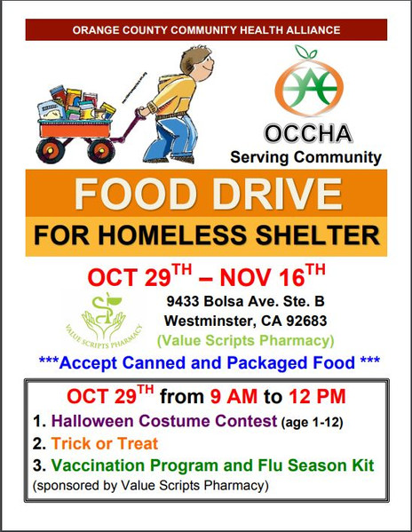 Thanksgiving Food Drive & Costume Contest