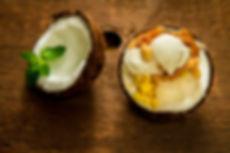 Crème glacée à la noix de coco, Coconut ice cream