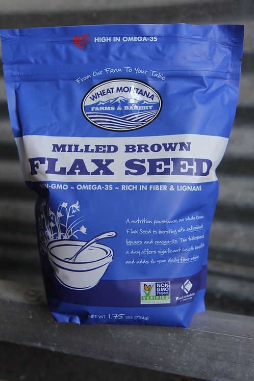 Milled Brown Flax Seed, 1.75 Pounds