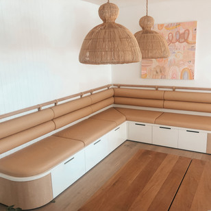 Residential Client- Custom Booth Seating