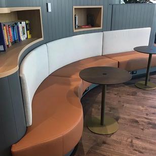 SIG Australia- Custom leather seating with fabric back