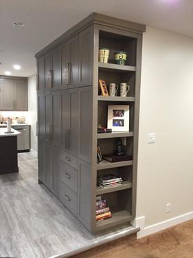 Custom end built cabinet for client.