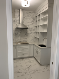 Pantry cabinetry installation