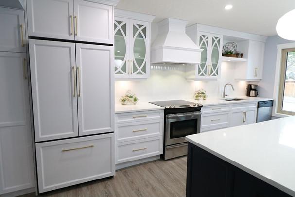 Full kitchen and main floor renovation.
