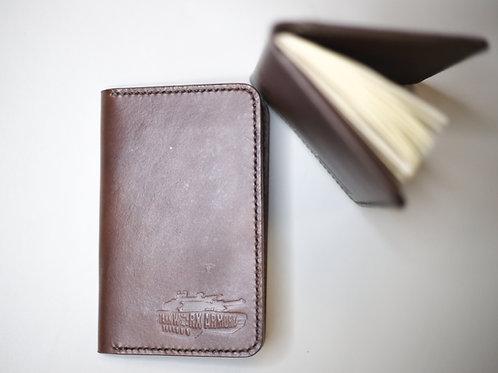 Pocket notebook/card holder- Leather
