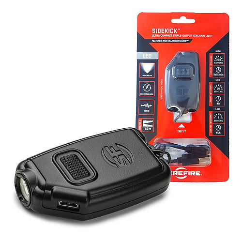 SUREFIRE Sidekick Ultra-compact triple-output keychain light 60 Lumens