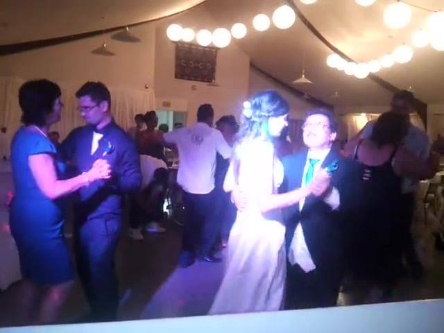 Beautiful bride dancing with her Dad