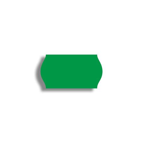 22x12mm 1500 gab. Marķešanas etiķetes TEXTILE Zaļas