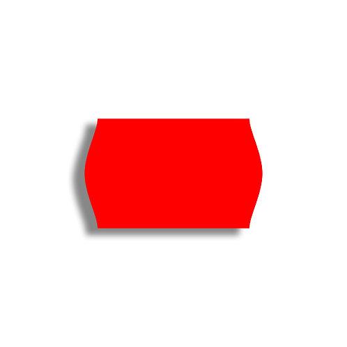 V 26x16mm 1000 gab. Marķešanas etiķetes Permanent Fluorescentas RED, papīrs