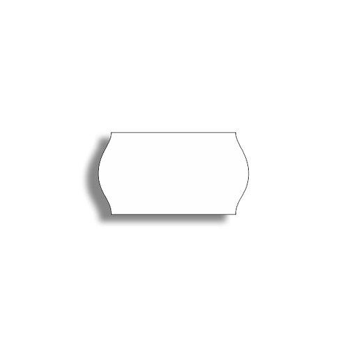 22x12mm 1500 gab. Marķešanas etiķetes TEXTILE Baltas