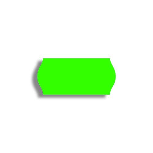 26x12mm 1500 gab. Marķešanas etiķetes Permanent, Fluorescentas GREEN, papīrs
