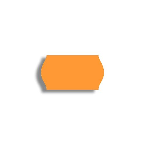 22x12mm 1500 gab. Marķešanas etiķetes Permanent Fluorescentas Oranžas
