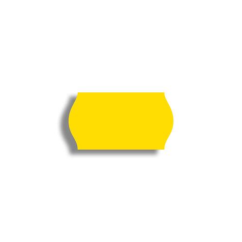 22x12mm 1500 gab. Marķešanas etiķetes TEXTILE, Dzeltenas
