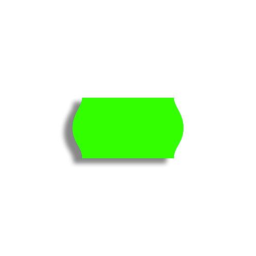 22x12mm 1500 gab. Marķešanas etiķetes Permanent Fluorescentas Zaļas