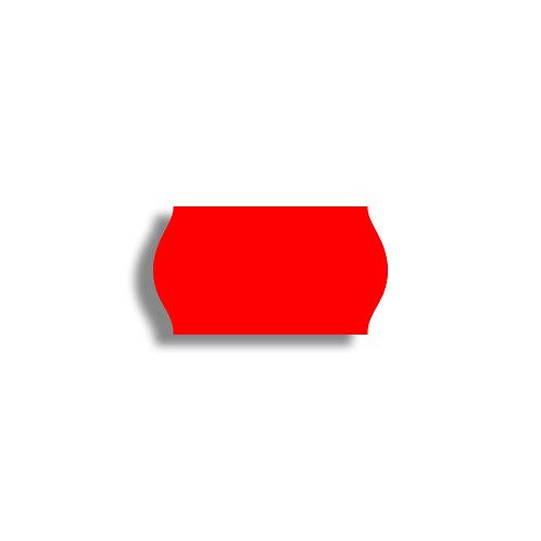 22x12mm 1500 gab. Marķešanas etiķetes Permanent Fluorescentas Sarkanas