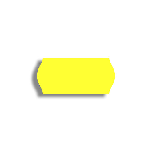 26x12mm 1500 gab. Marķešanas etiķetes Permanent, Fluorescentas YELLOW, papīrs
