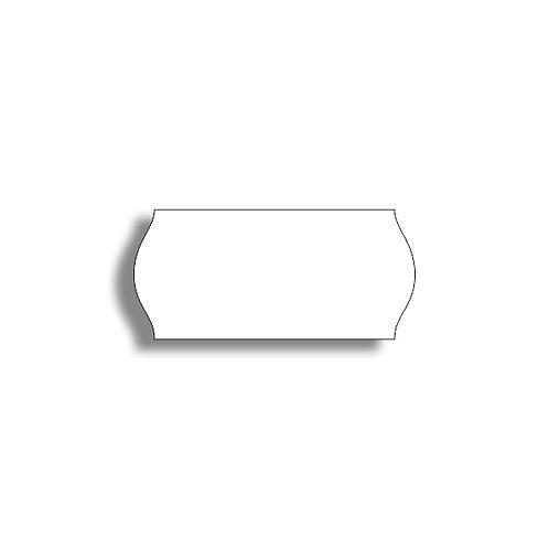 26x12mm 1500 gab. Marķešanas etiķetes TEXTILE Baltas, papīrs