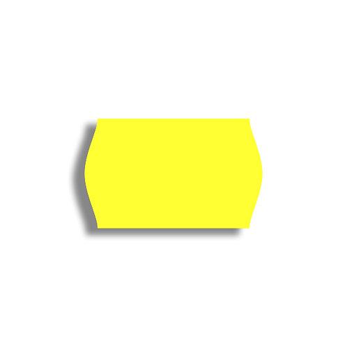 V 26x16mm 1000 gab. Marķešanas etiķetes Permanent Fluorescentas YELLOW, papīrs