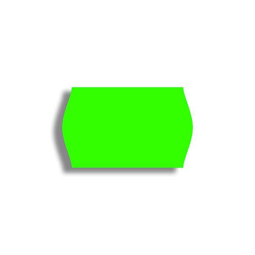 V 26x16mm 1000 gab. Marķešanas etiķetes Permanent Fluorescentas GREEN, papīrs