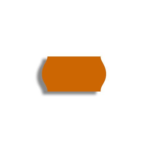 22x12mm 1500 gab. Marķešanas etiķetes TEXTILE, Oranžas