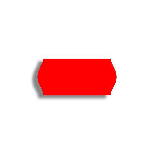 26x12mm 1500 gab. Marķešanas etiķetes Permanent, Fluorescentas RED, papīrs