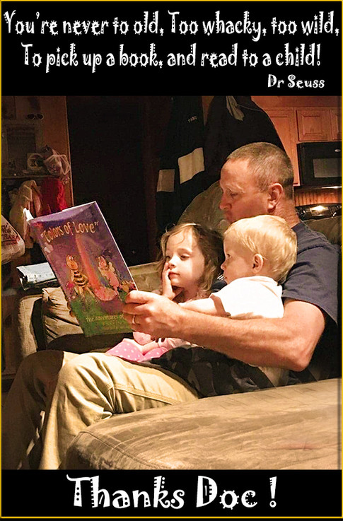 Reading time with Grandpa