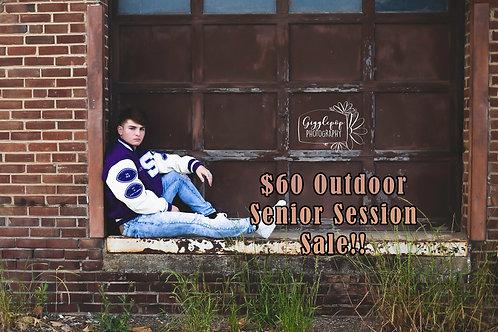$60 Outdoor Senior Session