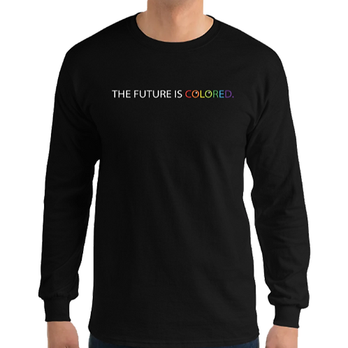 "LONG SLEEVE T ""Future is colored"""