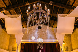 Wedding chandelier & crystals
