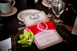 Luxurious wedding menu card