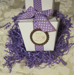Personalized candy favor box