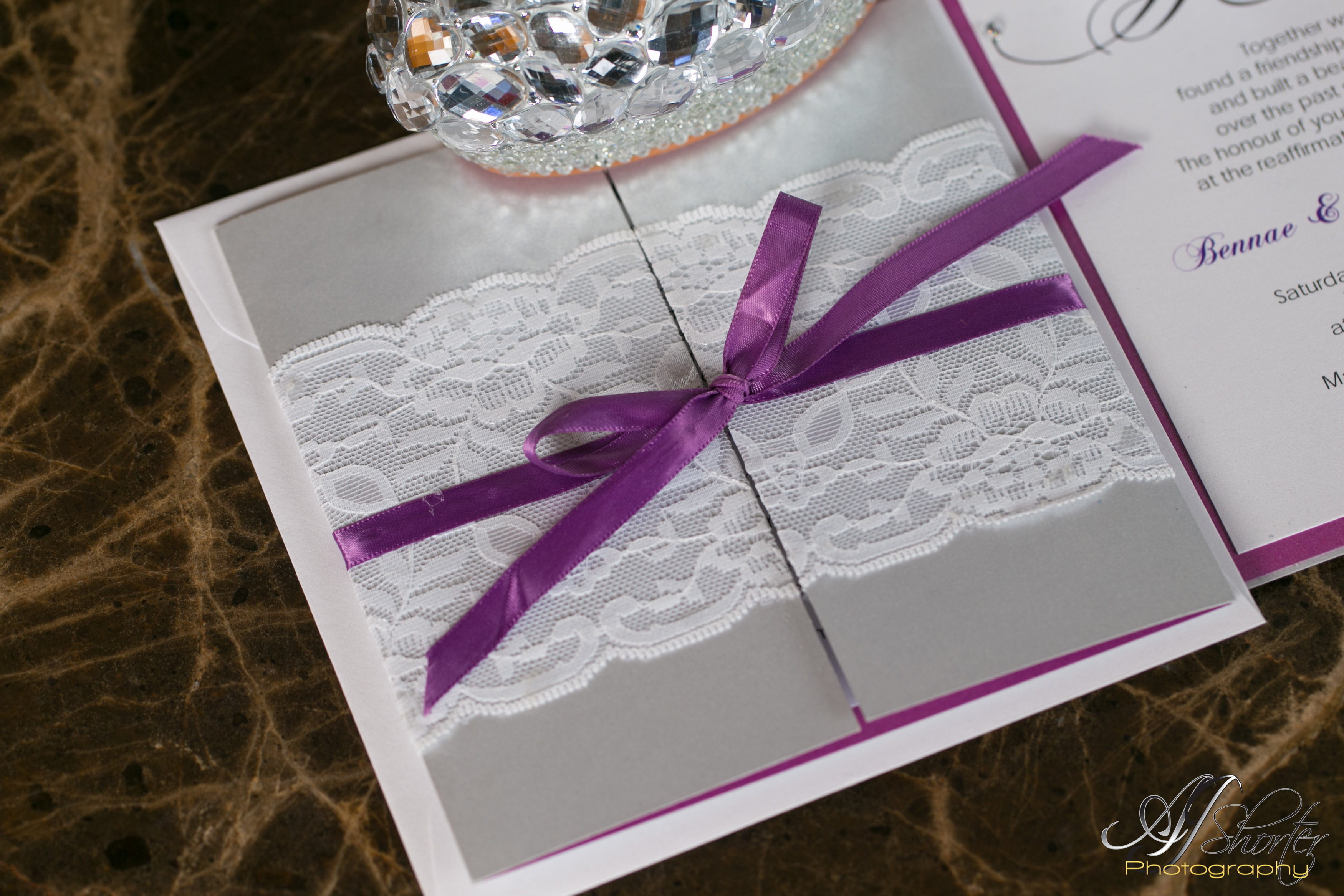 Wedding detailed shot- invitation