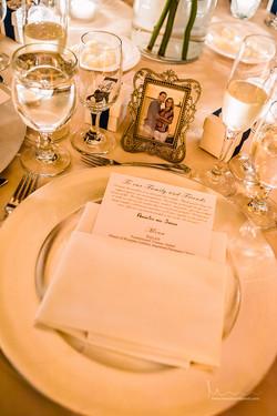 Wedding tablesetting- menu card