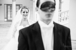 Wedding Blindfold First Look