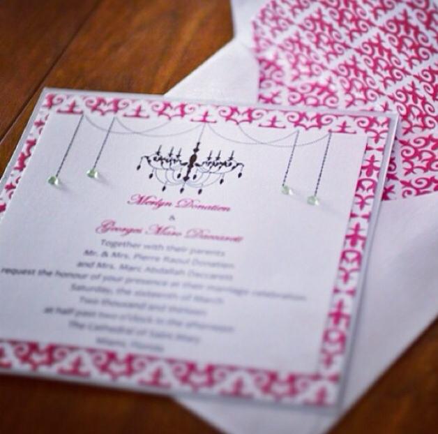Glam Chandelier Wedding Invitation