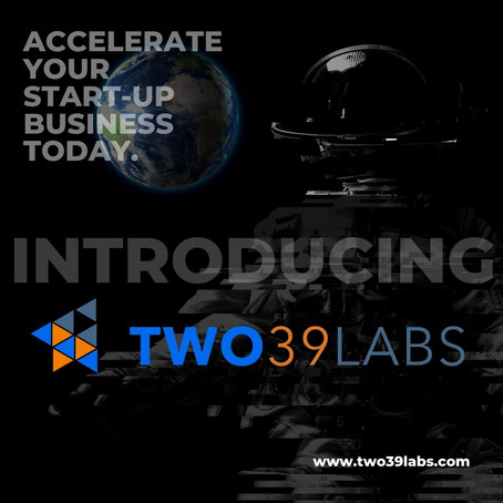 TWO39 LABS 12-Week Program designed to support startups is set to launch on September 14th