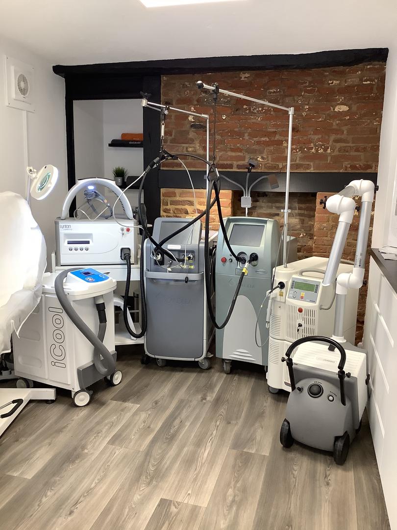Impressive range of Advanced Medical grade laser machines at The Laser Studios, Hitchin