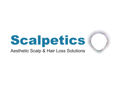 logo for scalpetics scalp micropigmentation and hair loss clinic in hitchin hertfordshire near london and bedfordshire