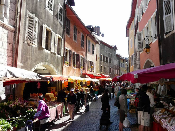 Old Town Annecy market