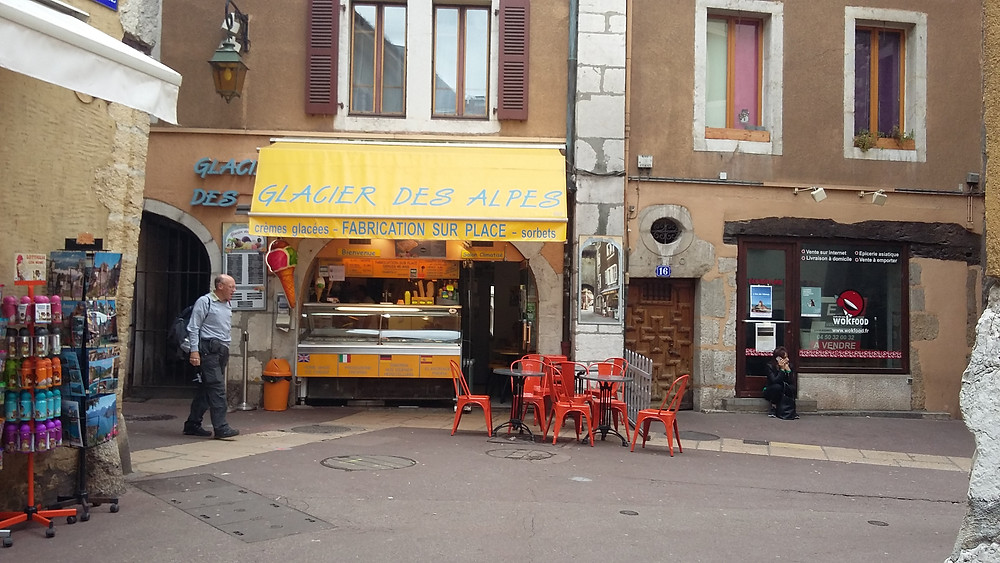 best ice cream in Annecy Old Town