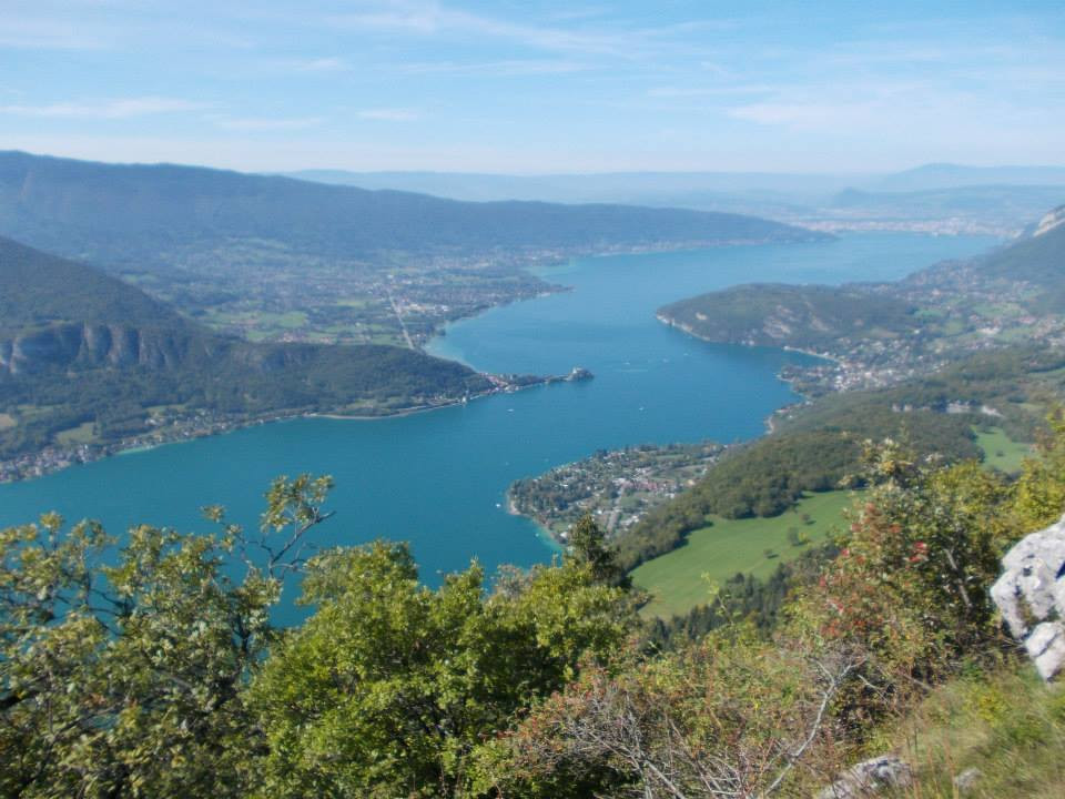 view on Lake Annecy from Col de la Forclaz