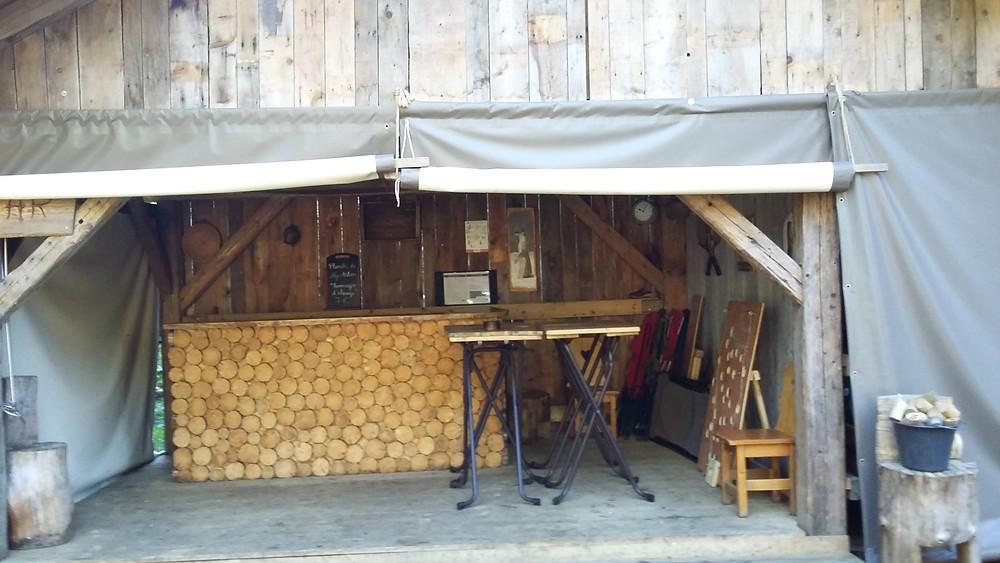 bar at the eco bivouac village semnoz