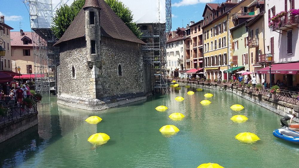 Old jail Annecy and Thiou river